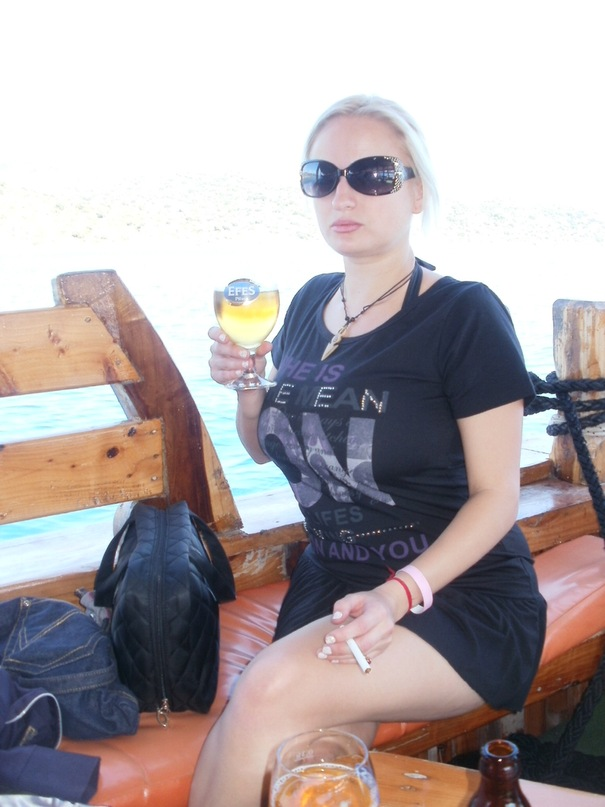 Мои путешествия. Елена Руденко. Турция. Средиземное море. Экскурсия на яхте.  2011 г.  Y_ef60f098