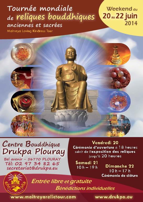 Exposition de reliques sacrées au Centre Bouddhique de Plouray (20 au 22 juin) Annoncereliques545