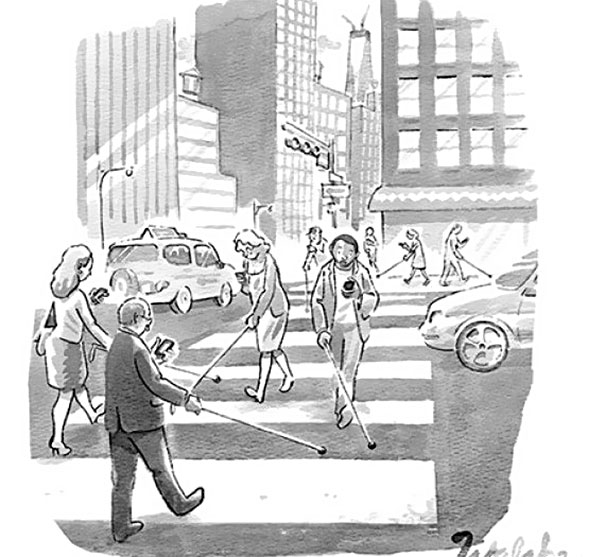 >>>Ilustraciones Satíricas..>>> Satirical_Illustrations_Addiction_to_Technology6