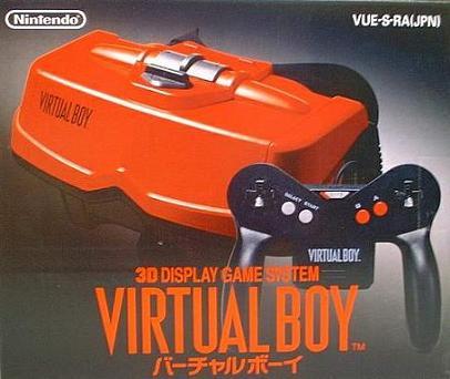 """Les consoles inconnues ou """"un peu"""" oubliées? :-( VirtualBoyJapan"""