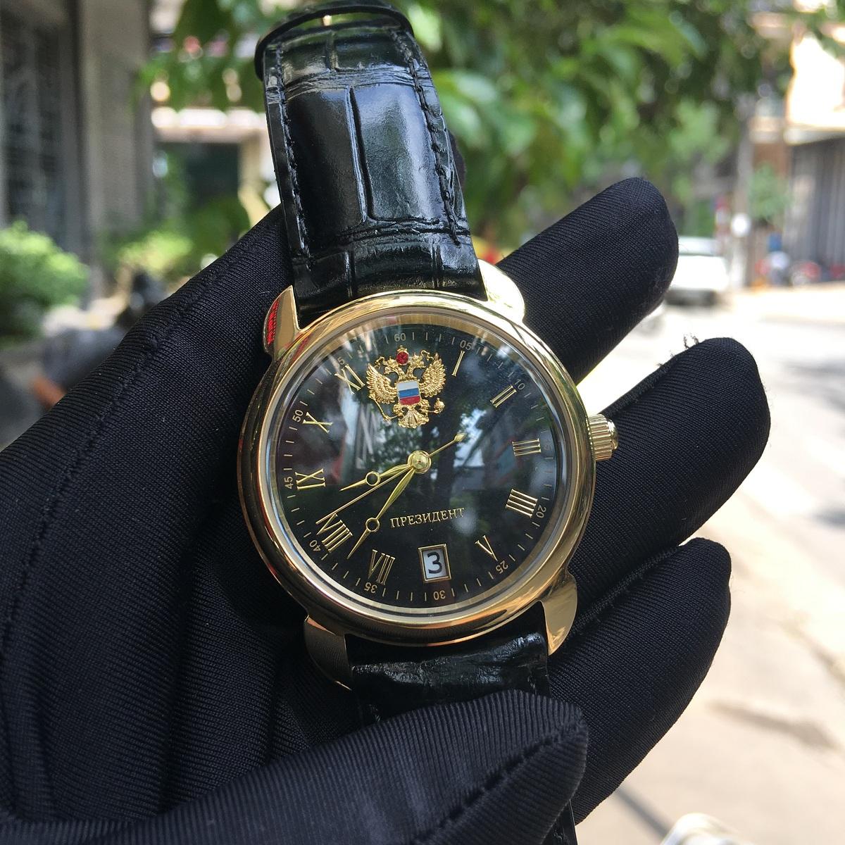 Đồng hồ Poljot President Gold Black luôn tỏa sáng và thu hút Dong-ho-poljot-president-gold-black