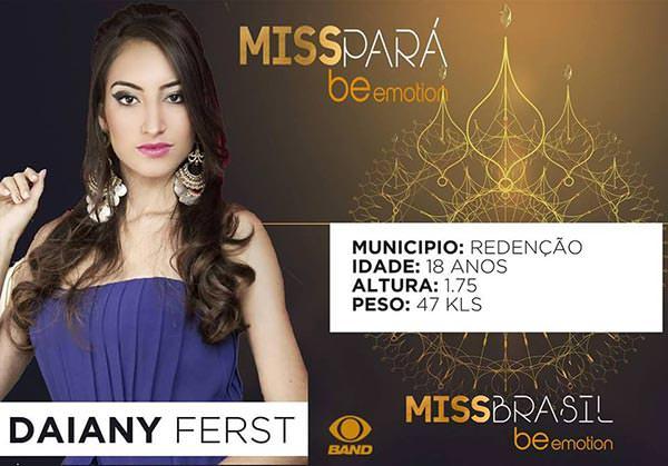 candidatas a miss para universo 2016, final: 15 de setembro. - Página 5 Redencao-Daiany-Ferst