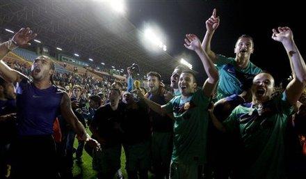 صور الاحتفالات من ارض الملعب ومن ساحة كاناليتس  Ap-201105111614584790693