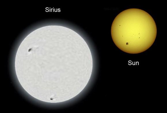 Sirius: UFO Trickster Extraordinaire Sirius-sun-comparison-wiki-credit-580x394