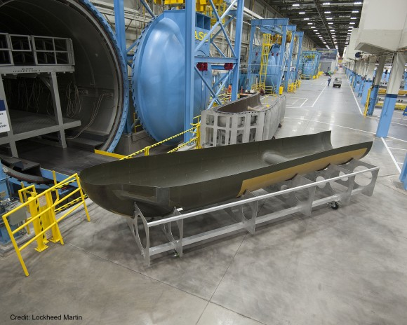 Dream Chaser (SNC) - Suivi du développement - Page 19 SNCs-Dream-Chaser-Orbital-Structural-Airframe-at-Lockheed-Martin-in-Ft-Worth-Credit-LM_20140801-580x464