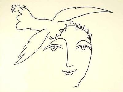 Se relier maintenant entre nous pour rayonner l'Amour - Page 5 Pablo-Picasso-L-homme-en-prole---la-paix-166150