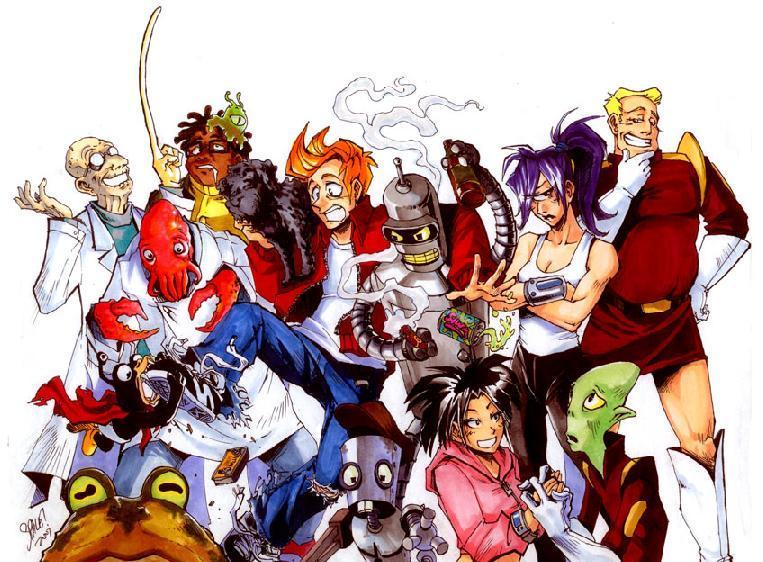 Immagini futurama! Futurama_as_anime_2