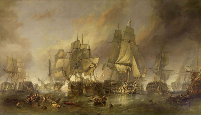 Voici comment ce navire français perdu dans les fonds marins depuis 200 ans a été découvert ! Par Justine Manchuelle                                Bateau-bataille-trafalgar-768x440