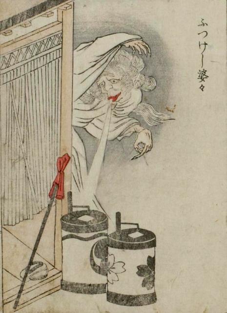 Weird monsters of Japanese folklore  03Futsukeshibaba_Hikeshibaba_465_641_int