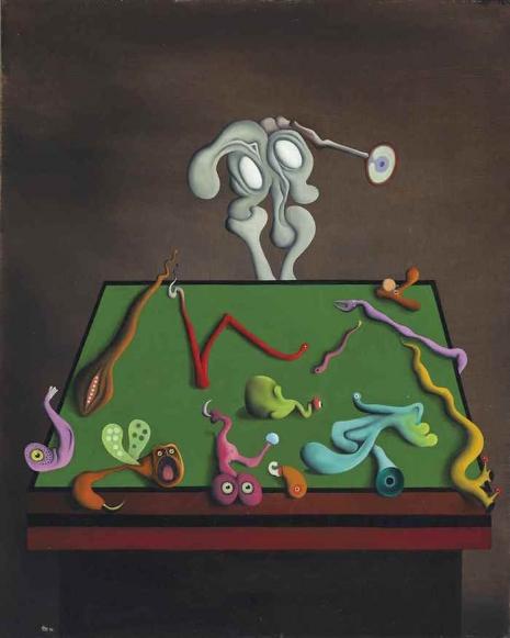 Secret Surrealist: The paintings of 'Naked Ape' zoologist Desmond Morris  03blindwatchmaker_465_581_int