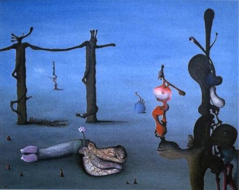 Secret Surrealist: The paintings of 'Naked Ape' zoologist Desmond Morris  04MetamorphicLandscape74_465_371_int