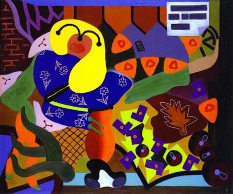 Secret Surrealist: The paintings of 'Naked Ape' zoologist Desmond Morris  08girlsellingflowers46_465_387_int