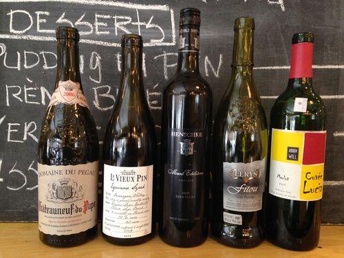 Grand vin du midi qui surprend : 30 janvier Diner-30-janvier-2015_rouges