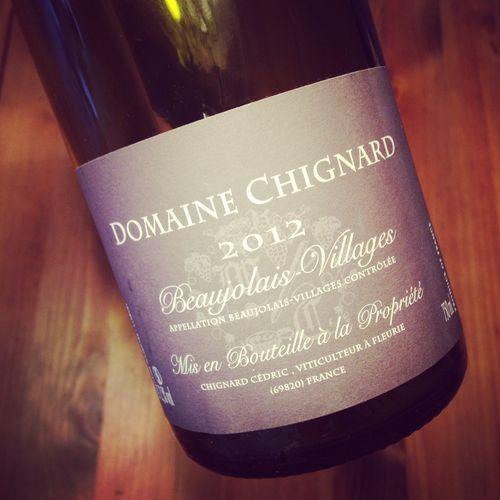 Semaine du 31 mai 2015 Domaine-Chignard-Beaujolais-Villages-2012