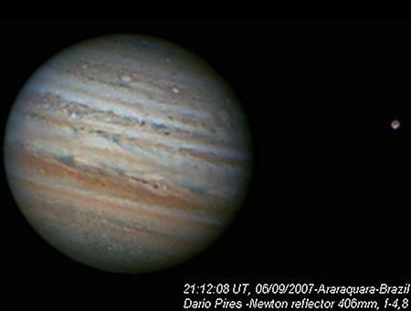 Observação de vênus, jupiter e saturno. Ganimedes