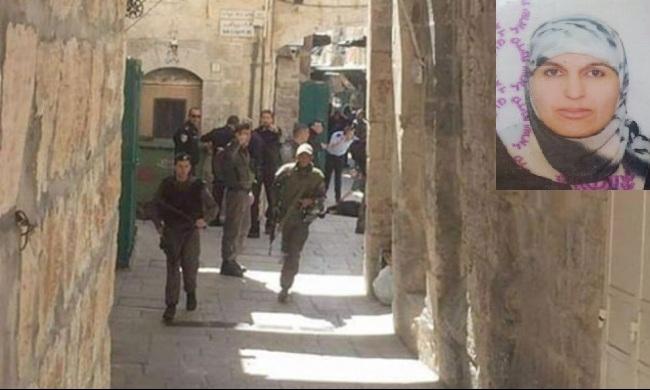 بالصور.. استشهاد فلسطينية بزعم محاولتها طعن جندي صهيوني بالقدس 20160308140932