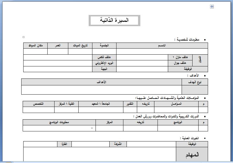 مجموعة لنماذج السيرة الذاتية CV جاهزة للطباعة 5bf4a33864377b7dc3db835c8201958d