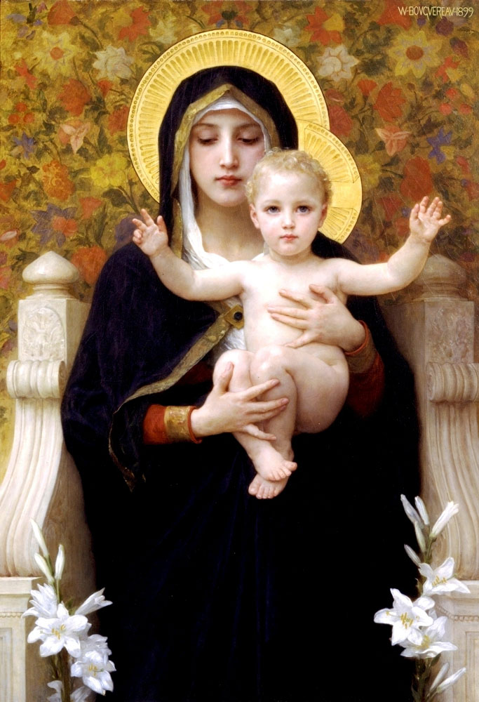 IMAGES TO NOURISH THE SPIRIT AND TOUCH THE HEART La_Vierge_au_lys