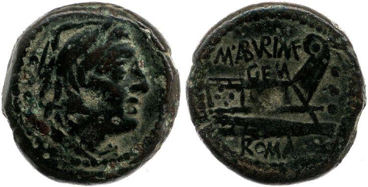 Monnaie de la république romaine à identifier Cr250-2