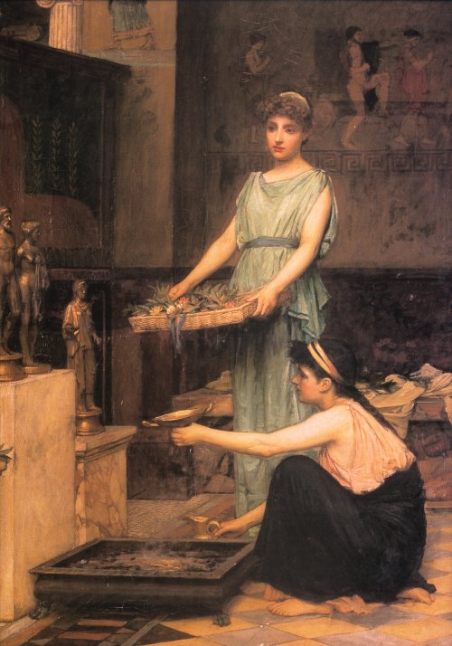 Il paganesimo nell'arte Waterhouse_the_household_gods