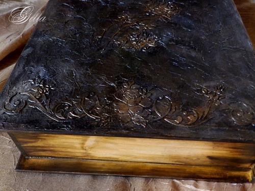 Эффект «свечения» в декупаже на деревянных заготовках 139238