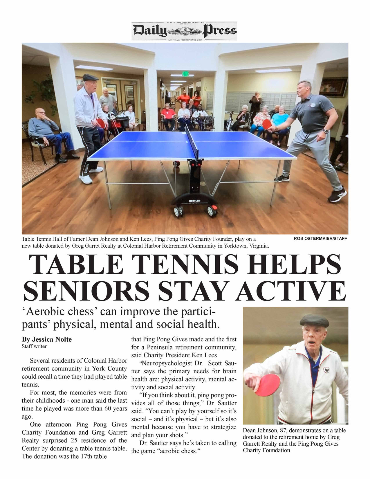 Table Tennis Helps Seniors Stay Active Daily-Press-articlelr