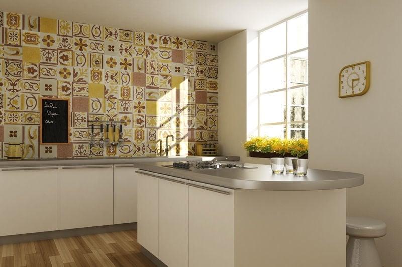3 ans plus tard...nouvelle maison, nouvelles peintures à prévoir ! Cr%C3%A9dence-cuisine-carreaux-ciment-blanc-marron-jaune-Fogazza