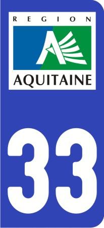 Le jeu des numéros en image - Page 2 Dept_plaque_aquitaine_33_301109