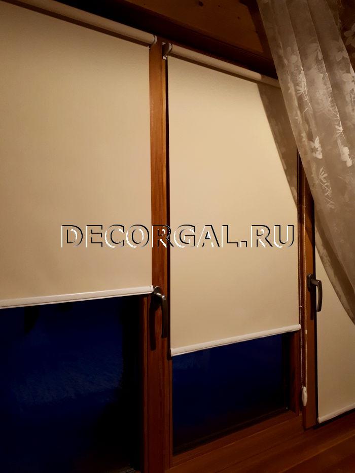 Шторы Жалюзи Карнизы от производителя! Rulonnye-shtory-mini-na-derevyannye-okna-6