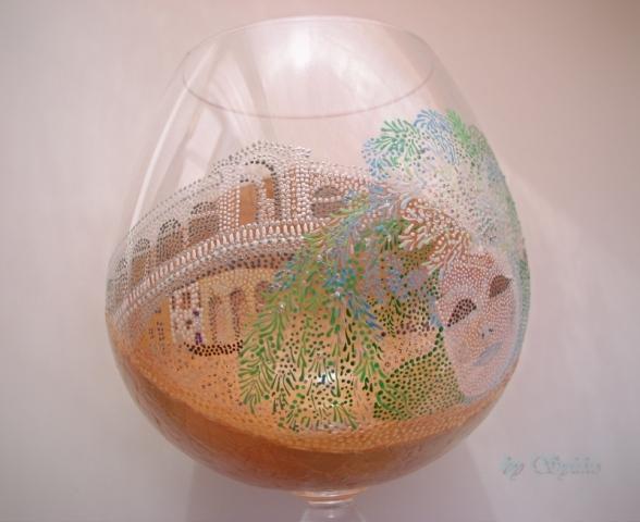 Очень интересная работа с применением яичного кракле и точечной росписи - МК Post-744636-1288806427