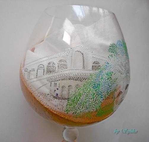 Очень интересная работа с применением яичного кракле и точечной росписи - МК Post-744636-1288807423