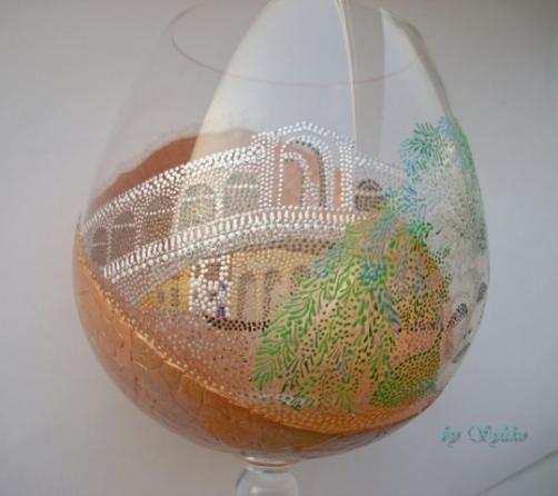 Очень интересная работа с применением яичного кракле и точечной росписи - МК Post-744636-1288807722