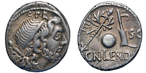 Medio Denario Consul Cn Lentulus 88 AC. CorneliusLentulusffc626ro