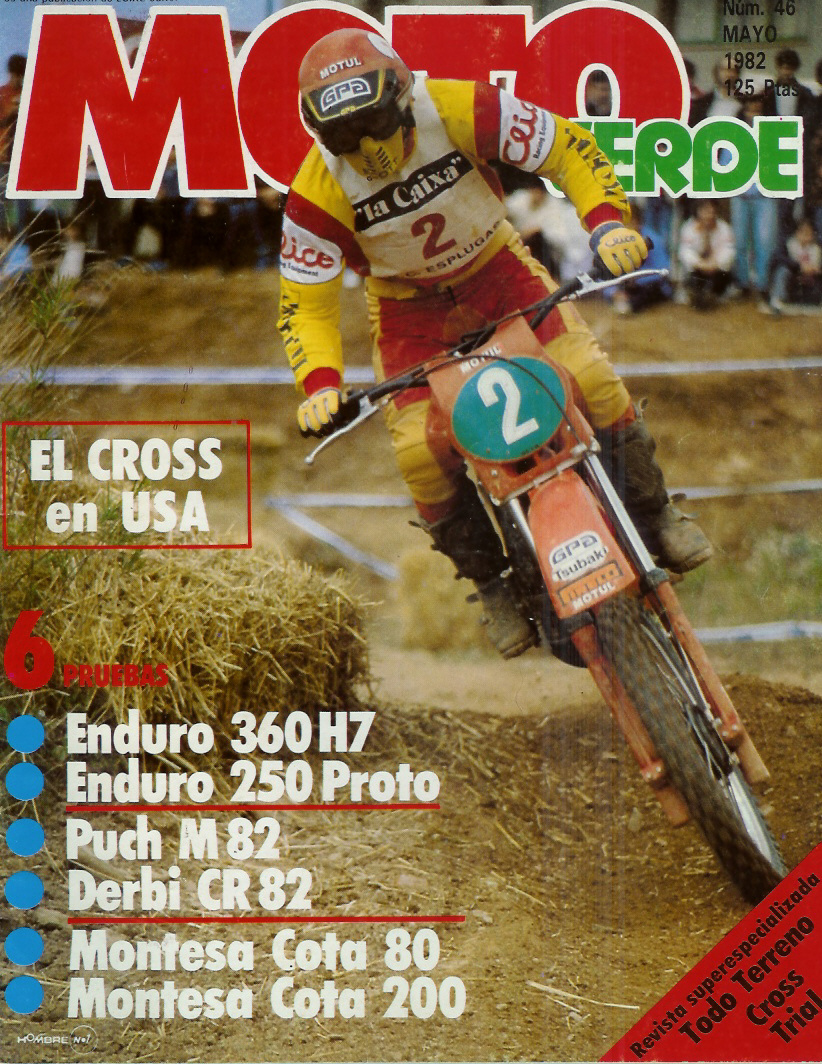 Derbi CR 82 - Comparativa Con Puch M-82 C Moto_verde_46_mayo_1982_01