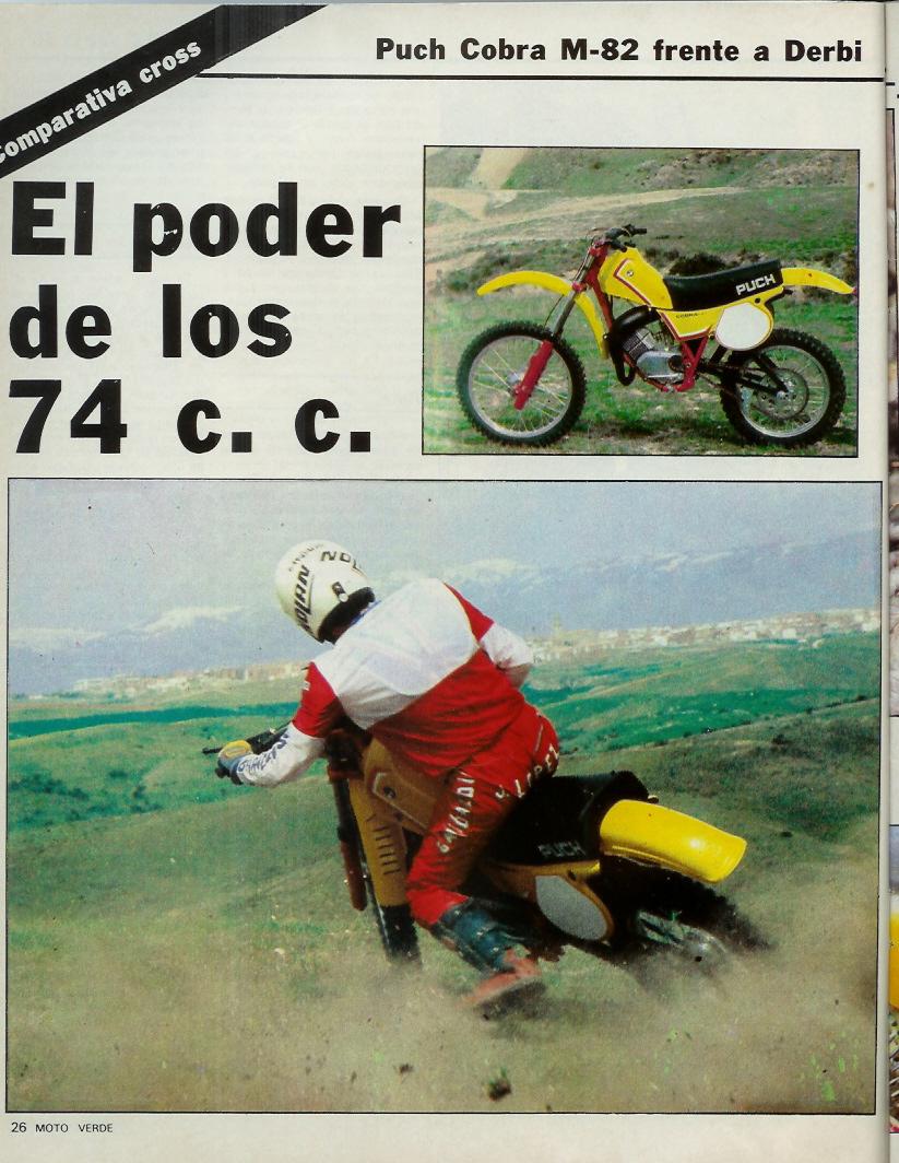Derbi CR 82 - Comparativa Con Puch M-82 C Moto_verde_46_mayo_1982_02