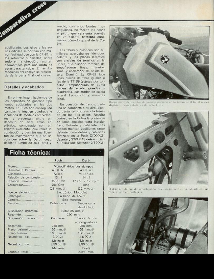 Derbi CR 82 - Comparativa Con Puch M-82 C Moto_verde_46_mayo_1982_07