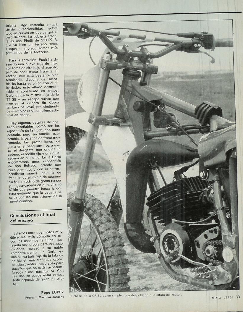 Derbi CR 82 - Comparativa Con Puch M-82 C Moto_verde_46_mayo_1982_08