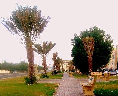 JEDDAH SAUDI ARABIA Walkway-in-park-jeddah