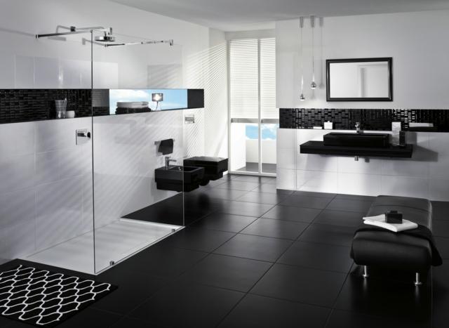 ديكورات حمامات Contrastes-noir-blanc-bain