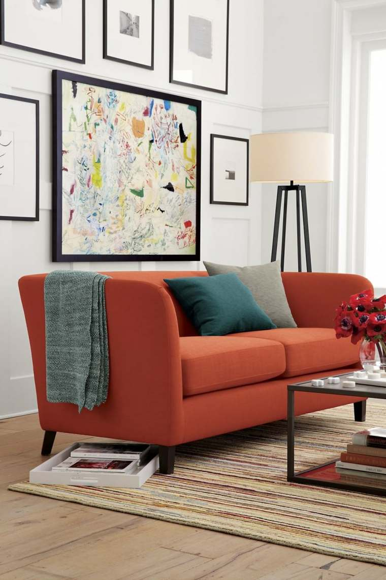 Autour d'un canapé orange : Vous avez le champ libre ! Interieur-design-automne-idee-deco-crate-barrel