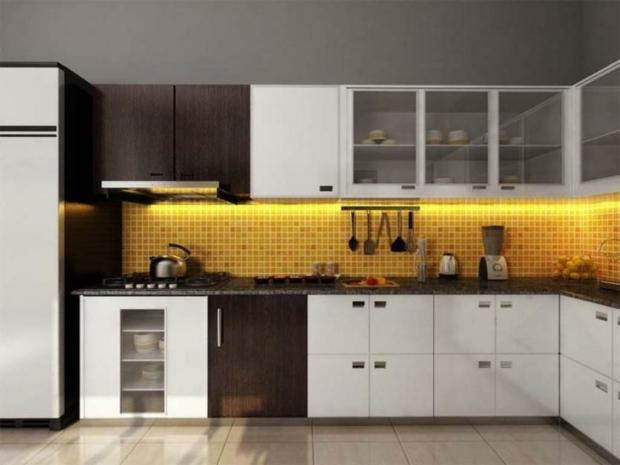 nouveau chez moi ... besoin de vos conseils  - Page 2 Superbe-cuisine-design-avec-dosseret-carrelage-jaune