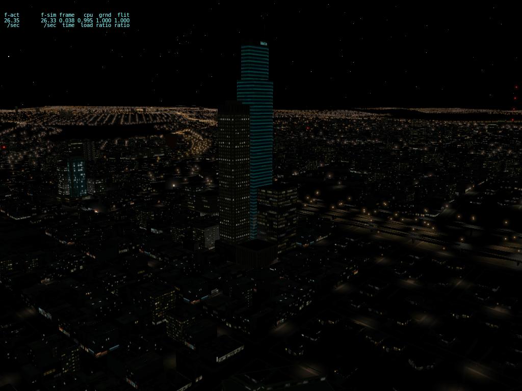 X-Plane Beta 10.10 Beta 2 atualize já o seu. KSEA_with_lights