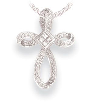 الحب الصادق  Diamond-cross-pendants