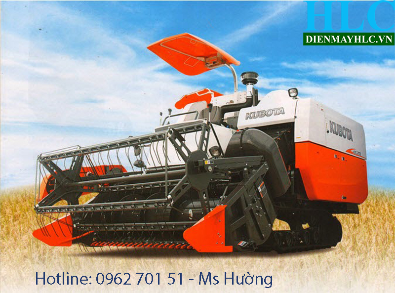 Diễn đàn nhà báo trẻ: Máy gặt lúa liên hợp kubota DC70 - công suất lớn  Kubota-dc70