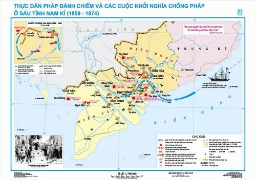 Sử 11-Bài 19 : Nhân dân Việt Nam kháng chiến chống Pháp xâm lược (từ 1958 đến trước 1873) Ban_do_chong_phap_o_6_tinh_nam_ki_500_01