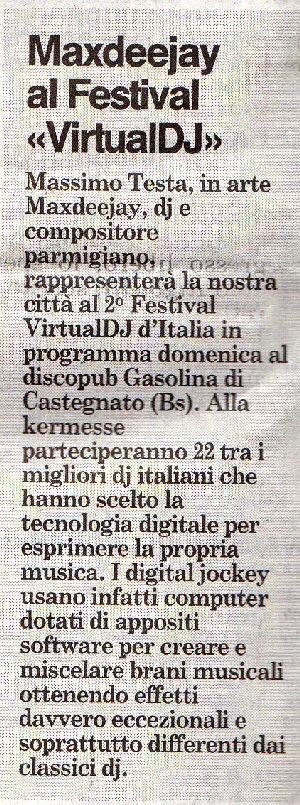 GAZZETTA DI PARMA Venerdi 22 settembre 2006 Virtualdj2