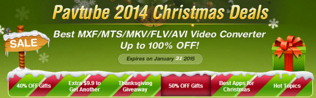 Import/Edit MP4 footages into iMovie for editing on Mac Pavtube-2014-christmas-deals-video2