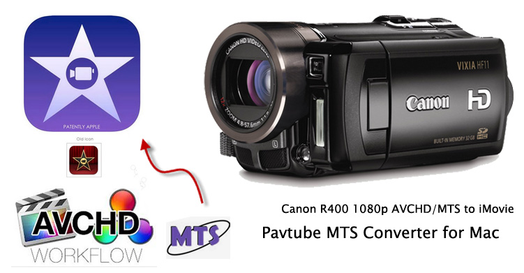 Enable iMovie to ingest AVCHD files from Canon Vixia R400 Convert-Canon-VIXIA-HF-R400-1080p-AVCHD-to-iMovie