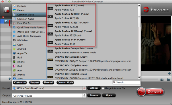 Best ProRes Converter: Convert H.264 footage to ProRes for FCP X Choose-format-to-apple-prores