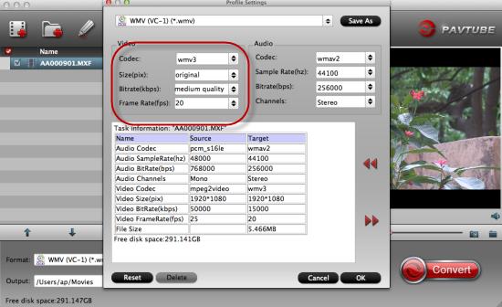 How to import Panasonic AG-HVX200 P2 MXF file to Premiere Pro?  Set